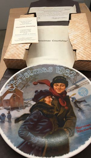 Vintage 1982 Norman Rockwell Christmas Christmas courtship Limited addition original box for Sale in NJ, US