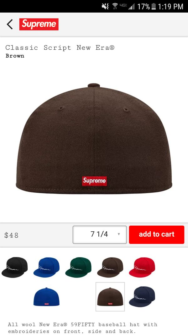 2c17263e63a Supreme Classic Script Logo Fitted Hat 7 1 4 for Sale in Lakewood ...