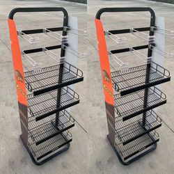 NEW $75 for 2 Racks 17x16x52 Inch Tall Commercial Retail Conveninece Store Product Candy Snack Rack Merchandise Shelf swapmeet restaurant store for Sale in Los Angeles,  CA