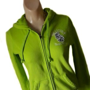 "NWT Hollister Lime Green ""Beach Relay"" Hoodie-XS for Sale in East Hartford, CT"