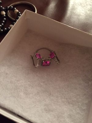 Pink diamond ring and earrings for Sale in Haverhill, MA