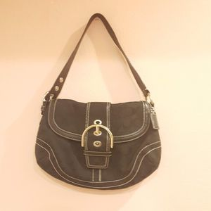 Coach Soho Signature Hobo Bag Purse C060-10297 Black Canvas Leather. for Sale in San Jose, CA