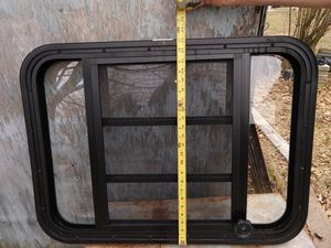 RV Camper Window With Trim Ring Screen Vent Open Screws for Sale in Reading, PA