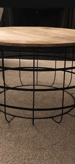 Wooden And Metal Coffee Table for Sale in Marietta,  GA