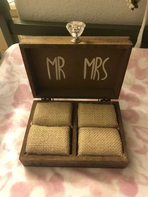 Ring Holder Decorative Box - Mr and Mrs for Sale in Chino Hills, CA