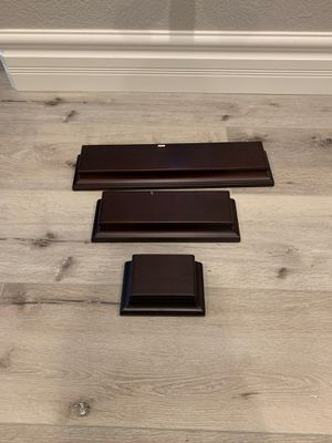 Brown floating wall shelves for Sale in Manteca, CA
