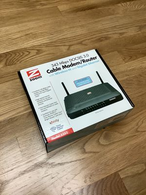 Zoom Cable Modem+Router Model 5352 for Sale in Foster City, CA