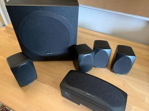 Polk Audio 5.1 RM6000 speakers and subwoofer surround sound for Sale in San Jose, CA