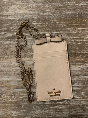 Kate Spade ID and Card holder with gold necklace. for Sale in Irving, TX
