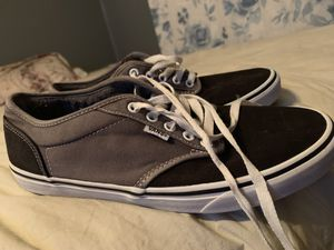 Vans in good condition size 9 gray and black for Sale in Port Acres, TX