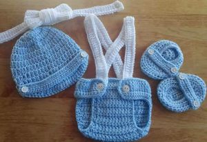 Crochet Baby Boy Diaper Cover Outfit Newborn for Sale in Lyons, GA
