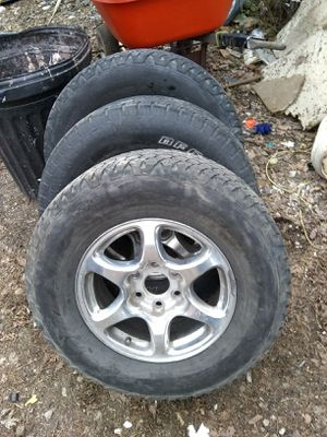 94 to 00 Tahoe suburban 6 lug wheels and tires for Sale in St. Louis, MO
