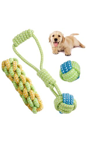 Pet Dog Rope Chew Toys for Tug of War Teething Cleaning for Sale in Los Angeles, CA