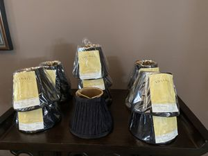 12 New Black mini chandelier shades for Sale in Austell, GA