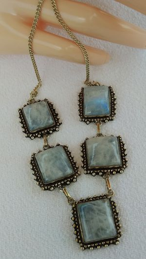 NEW ARRIVALS!!! 925 Silver MOONSTONE Gemstone Necklace $30.00 for Sale in Pembroke Pines, FL