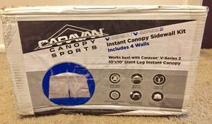 Caravan Canopy Set for 64 sq.ft. V-Series Slant Leg 10x10 Canopy sidewalls, White for Sale in Indianapolis, IN