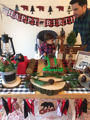 Baby boy birthday decorations (everything but the cake) for Sale in Fairfax, VA
