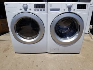 *LG FRONTLOAD WASHER AND ELECTRIC DRYER SET STACKEABLES IN GREAT WORKING CONDITION COMES WITH 3 MONTHS WARRANTY for Sale in Denver, CO