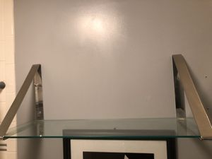 Chrome and glass shelves (2) for Sale in Finksburg, MD