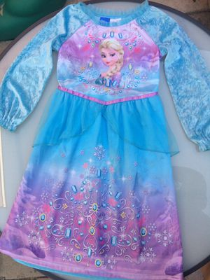 Disney Frozen Elsa gown costume dress 4-5-6 for Sale in Long Beach, CA