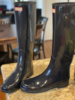 Hunter Rain Boots (Navy Blue) US size 9 for Sale in Sterling, VA