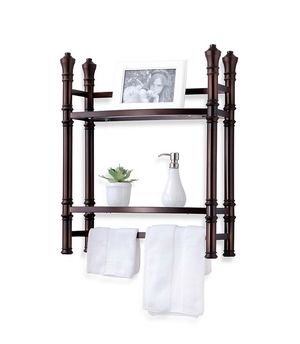 Monaco No Tools Small Wall Unit Étagère in Oil Rubbed Bronze for Sale in Gainesville, FL