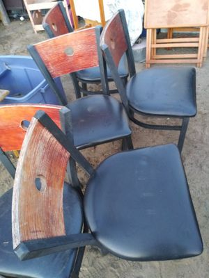 5 metal and wood Chairs for Sale in Fontana, CA