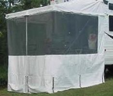 RV Toy-hauler extend a room. Outback Awning and Room ...