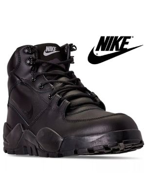 NIKE RHYODOMO BLACK WATER RESISTANT LEATHER BOOTS MENS SIZE9 for Sale in East Los Angeles, CA
