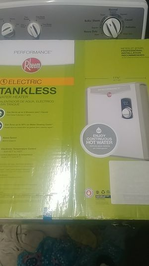 FACTORY SEALED RHEEM ELECTRIC TANKLESS WATER HEATER for Sale in Tracy, CA