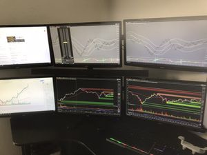 Super computer, trading setup, 7 monitors, I9 9th gen, or gaming for Sale in Miami, FL
