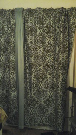 Sea foam teal and brown Curtains for Sale in Alexandria, VA