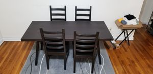 Dinner Table Set (4 chairs) Ikea Vastanby Black (older model) for Sale in Staten Island, NY