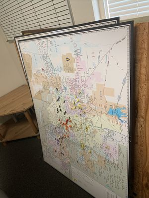 Office Cork Boards and Phx Metro Maps $5 for Sale in Phoenix, AZ