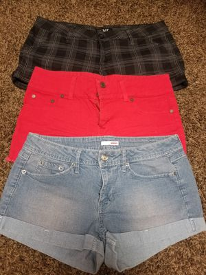 3 shorts size 7/8 women for Sale in Lake Elsinore, CA