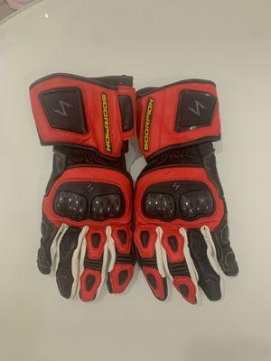 Men's scorpion moto gloves Large 10 for Sale in Costa Mesa, CA