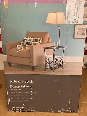 Allen + Roth Magazine Rack Lamp Oil Rubbed Bronze New