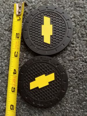 Chevy Colorado logo cup holder soft rubber pad set insert for Sale in Ontario, CA