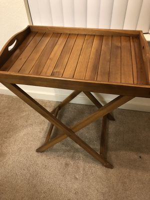 Wood end table / tray table - pier 1 for Sale in Dublin, CA