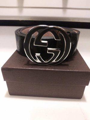 Gucci Belt w/Blk & Slvr Buckle sz32-38 for Sale in Tacoma, WA