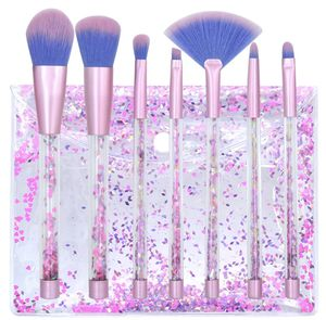 7pcs Makeup Brushes Set Mermaid Unicorn Crystal Quicksand Sequins + Pouch Case for Sale in Brookshire, TX