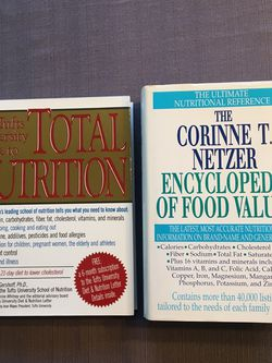 Food and Nutrition classic reference books, lot of 2 new hardcover classics. The Corinne T. Netzer Encyclopedia Of Food Values, the classic ultimate for Sale in Lansdale,  PA