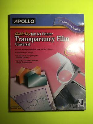 Apollo Quick-Dry Universal Inkjet Transparency Film for Sale in Norridge, IL