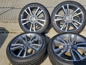 """ACURA TLX 19""""INCH ENKIE RIMS WITH 245/40/19 MICHELIN PRIMACY MXM4 for Sale in Ontario, CA"""