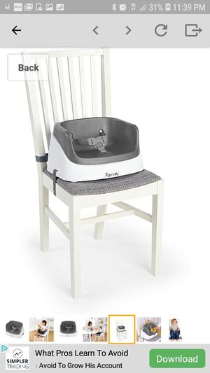 Ingenuity SmartClean Toddler Booster Seat for Sale in Sacramento, CA