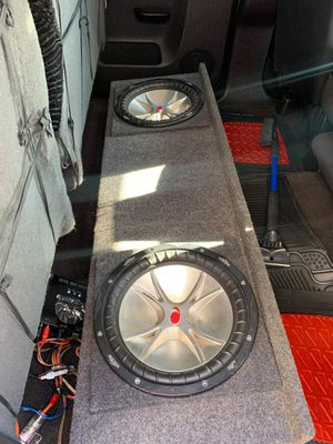 """2 12"""" kickers and box for Sale in Tulsa, OK"""