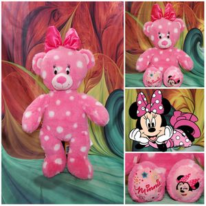 "Build a Bear Disney Minnie Mouse Pink White Polka Dot Plush 16"" BABW Teddy for Sale in Hallettsville, TX"