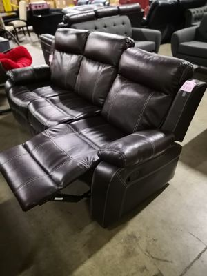 recliner sofa $380. loveseat+console $350 for Sale in Baldwin Park, CA