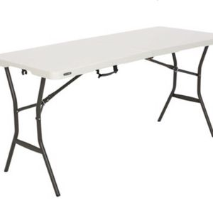 Lifetime 5' Essential Fold-in-Half Table, Pearl, 280513, Steel Frame for Sale in Portsmouth, VA