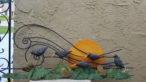 Unusual metal bird sunset for Sale in Port St. Lucie, FL